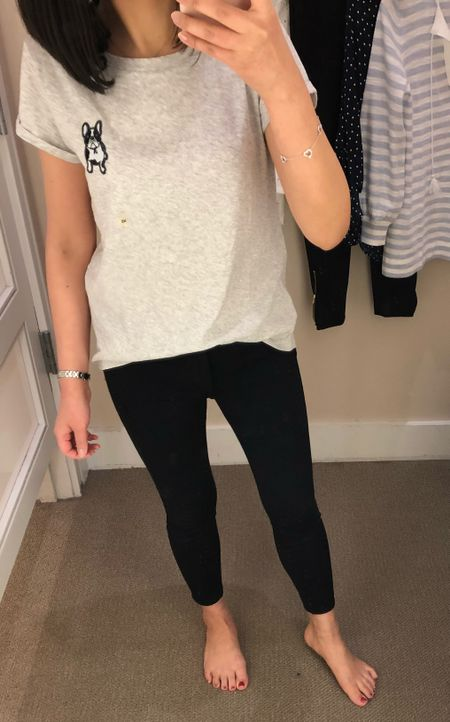 Trying on this French bull dog tee in size XS. I ordered size XXS for a better fit. This tee runs large and very long. @liketoknow.it http://liketk.it/2v6I7 #liketkit #LTKsalealert #LTKunder50 #LTKunder100