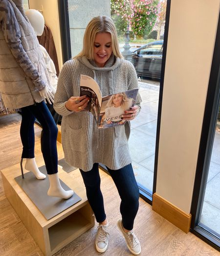 Evereve Try-on… Perfect Fall pieces and great gifts!  Wearing a size sm in this poncho sweater… 28 in Good American jeans dark denim skinny no distress…  Cute kicks! .   #LTKSeasonal #LTKstyletip #LTKshoecrush