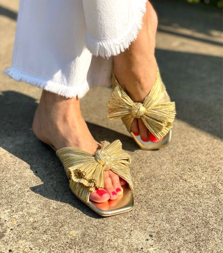 Is it wrong to be in love with a pair of shoes?? I have wanted these Daphne bow slides from @loefflerrandall forever!! I finally ordered the gold flat from their website. (LoefflerRandall.com) I have to say they have the best customer service I've experienced. Thank you Drea for taking care of me!! #loveshoes #bowslides  Follow my shop on the @shop.LTK app to shop this post and get my exclusive app-only content!  #liketkit #LTKshoecrush #LTKstyletip @shop.ltk http://liketk.it/3kWe2  #LTKshoecrush #LTKstyletip