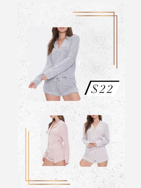 My favorite pajama set is back and comes in 3 colors! Only $22 http://liketk.it/34nq6 #liketkit @liketoknow.it #LTKgiftspo #StayHomeWithLTK #LTKstyletip