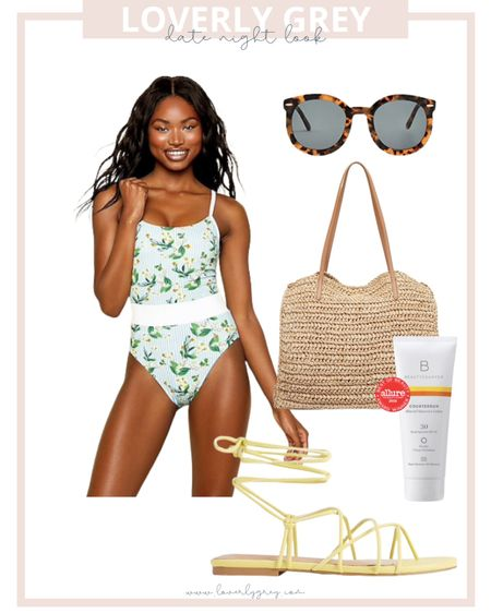 How cute is this one piece swimsuit for summer. Would be perfect for your next beach vacay!   #LTKswim #LTKDay #LTKstyletip