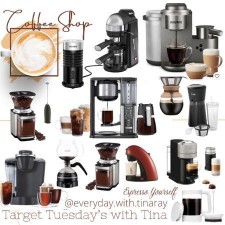 • TARGET TUESDAY'S WITH TINA •   So many good sales right now!  Today is the last day for Targets Big Sale, so don't wait too long and miss out! 😘  You know I had to jump on and share all the coffee goodness! Espresso makers, lattes, iced coffee, cold brew systems, grinders and frothers! I have them all linked up in this post.   Screenshot this pic to get shoppable product details with the LIKEtoKNOW.it shopping app or swipe up in my stories!  You can find all my Target Tuesday post by following #targettuesdayswithtina   Tell me, have you grabbed any good deals?    http://liketk.it/3iehH @liketoknow.it @liketoknow.it.home @liketoknow.it.family #liketkit #LTKsalealert #LTKhome #LTKfamily
