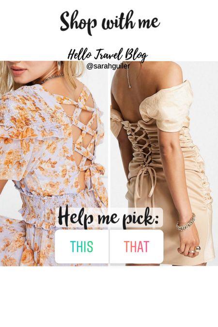Lace up dress. Wrap dress. Maxi dress. ASOS. Wedding guest dress. End of summer dress. Date night dress. #LTKstyletip #LTKSeasonal #LTKunder100