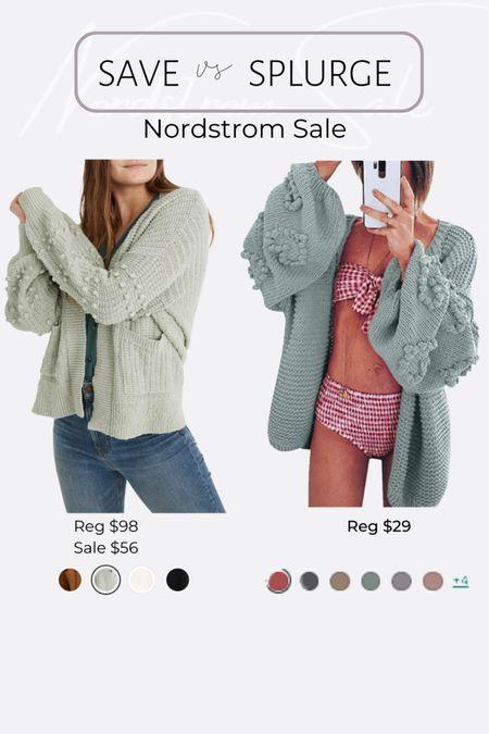 Nordstrom NSale favorite picks and dupes madewell bubble sleeve cardigan http://liketk.it/3jRKE #LTKsalealert  #liketkit @liketoknow.it #LTKunder50  #LTKunder100