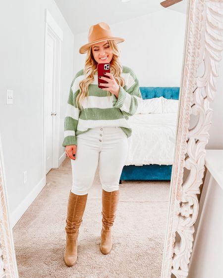 The cutest green & white sweater for under $25!!! http://liketk.it/33tGK #liketkit @liketoknow.it #LTKunder50 #LTKstyletip