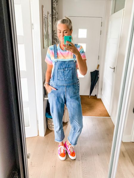 Outfits of the week - Saturday   Doing chores around the house in these comfy overalls. I am wearing a large throughout.   Sneakers fit tts.    #LTKeurope #LTKworkwear #LTKshoecrush