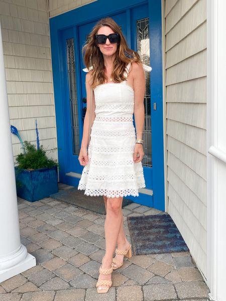 White dress look, summer outfits, eyelet dress, amazon finds   #LTKstyletip #LTKSeasonal