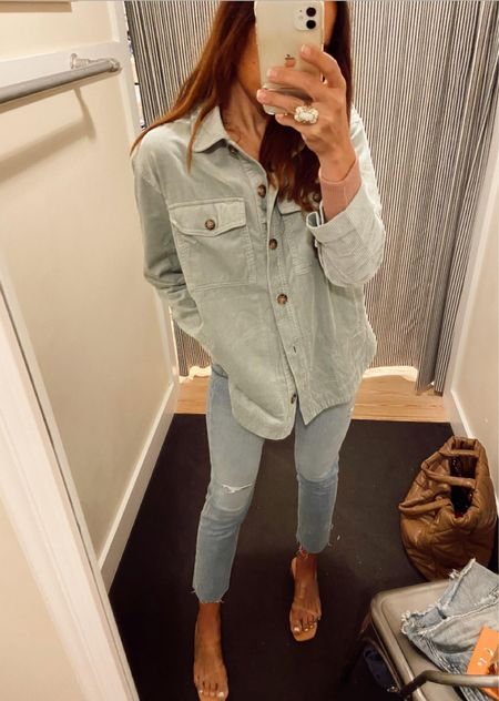 Madewell same! Vintage jeans size down bc they have lots of stretch and corduroy shirt   #LTKSeasonal #LTKSale #LTKHoliday