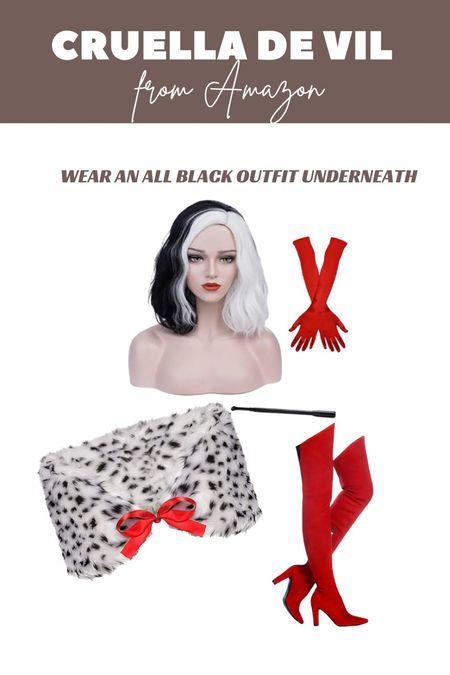 Cruella De Vil costume from Amazon