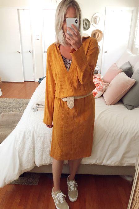 Free people tunic midi dress on sale for under $50 💛 Vans are Candied Ginger http://liketk.it/2MFth @liketoknow.it #liketkit #LTKunder50 #LTKspring #LTKsalealert sneakers, spring dresses, yellow dress, cover up, vacation, summer dresses, long sleeve dress, Nordstrom