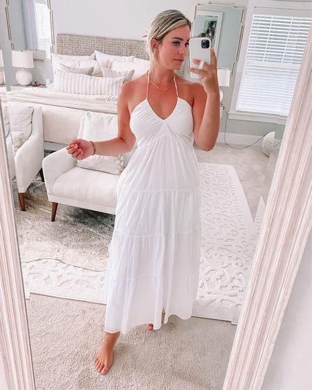 Absolutely love this white dress for summer! http://liketk.it/3huSK @liketoknow.it #liketkit #LTKunder100 #LTKstyletip #LTKsalealert