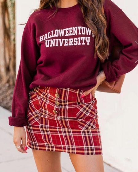 BLONDEBELLE for 20% off 🍁 . . . Pink Lily boutique, graphic sweatshirt, sweatshirt, Halloween sweatshirt, fall outfit, Halloweentown   #LTKstyletip #LTKSeasonal #LTKunder50