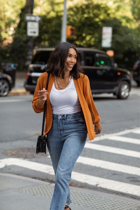 Fall essentials with Labor Day sales! A cardigan, tank and jeans #competition  #LTKstyletip #LTKSeasonal