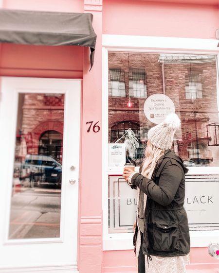 Small town exploring 💛 staying warm in my pom pom knit beanie & lightweight black trench coat! http://liketk.it/34xti #liketkit @liketoknow.it #LTKunder100 #LTKsalealert #LTKstyletip #wintercoat #winterjacket #winteroutfit #lightweightjacket #pombeanie #pompombeanie #knithat
