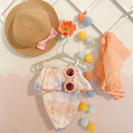 Little A is vacation ready! ☀️ How cute is this tie-dye swimsuit?! http://liketk.it/3hkB9 #liketkit @liketoknow.it