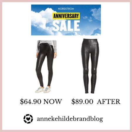 Spanx faux leather leggings are a must have for the fall season. These fit small so I recommend going up a size.  I wear size small. I plan on getting the medium petite as I am 5'2  follow me on Instagram @ahildebrandblog #nsale #nordstromanniversarysale #fashionblogger #beautyblogger #fall fashion   #LTKsalealert #LTKunder100