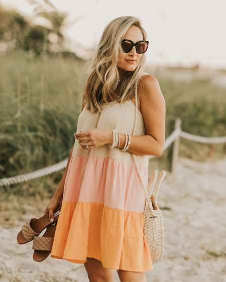 Walmart sundress runs true to size. Love this summer dress so cute http://liketk.it/3htbi #liketkit @liketoknow.it #LTKunder100 #LTKunder50 #LTKsalealert