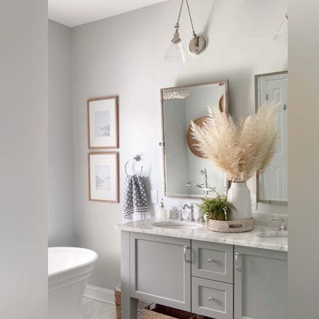 Master bathroom Bathroom decor Bathroom renovation  Neutral bathroom Neutral decor Master bathroom decor  #LTKhome