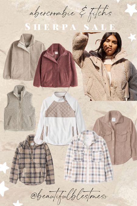 Abercrombie and Fitch Sherpa sale!! One day only!  #LTKSeasonal #LTKHoliday #LTKsalealert