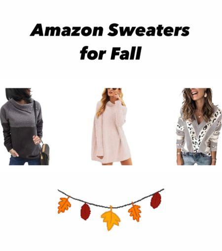 Amazon sweaters for fall! Fall style.    #LTKSeasonal #LTKunder50 #LTKcurves