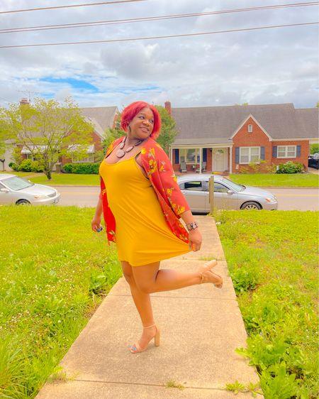 Another day, another dress 💛. Size 10 in dress. Similar kimono linked. #LTKDay #summer #outfitinspo - http://liketk.it/3hteW #liketkit @liketoknow.it #LTKsalealert #LTKshoecrush #LTKstyletip