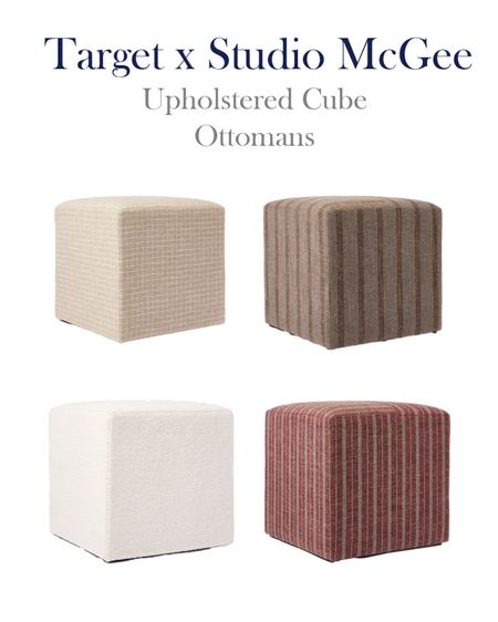 Target x Studio McGee Upholstered Cubes in new colors, perfect for Fall home decor.   #LTKhome