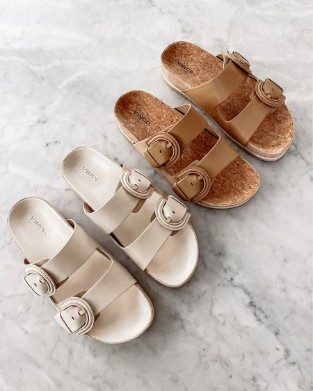 Still loving these Vince slide sandals that look like elevated Birkenstock's! Perfect for summer, beach vacations, pools side, or just with your favorite #summeroutift #sandals #birkenstock #liketkit http://liketk.it/3hjo3 @liketoknow.it #LTKstyletip #LTKshoecrush