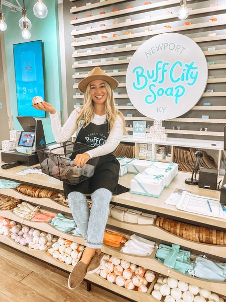 Had the best #gno last night making bath bombs at Buff City Soap! My #overalls were perfect for the event and the hat hid my frizzy hair, c/o the rain! 🙃 #hat #casual  #LTKSeasonal