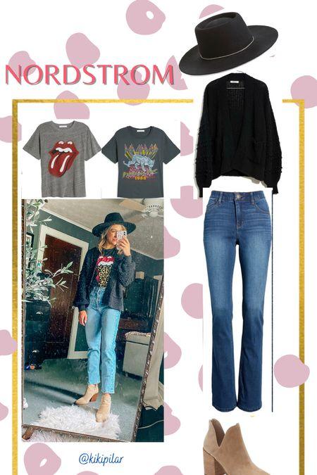 Nordstrom Anniversary Sale // outfit inspo // graphic tee // band tee   #LTKstyletip #LTKsalealert #LTKunder100