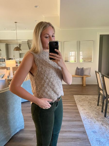 Perfect laying piece for fall! This sleeveless sweater vest shell from Target is $20. I'm in the small (color taupe)   #LTKSeasonal #LTKstyletip #LTKunder50