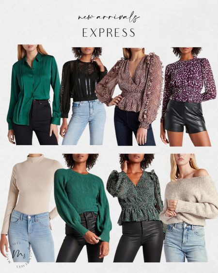 Express new arrivals workwear fall blouses fall sweaters @liketoknow.it #liketkit http://liketk.it/3opju #LTKunder100
