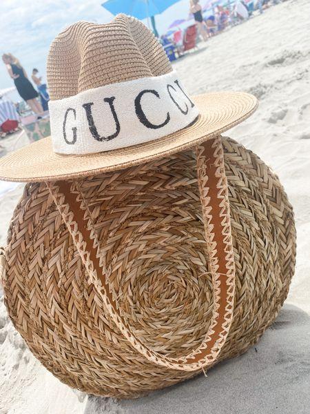 Gucci hat. Beach bag   #LTKunder50 #LTKtravel #LTKswim
