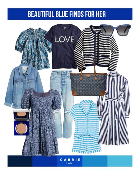 True blues. My favorite blue outfit ideas right now… from business casual to summer dresses, outfits to transition from summer to fall, accessories, my favorite super sift pajamas, and more… Much is on sale right now, so hurry and shop!     #LTKsalealert #LTKstyletip #LTKunder100
