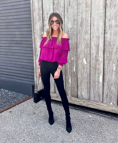 Size xs in this blouse! This color is so fun! Also comes in black!    #LTKstyletip #LTKworkwear