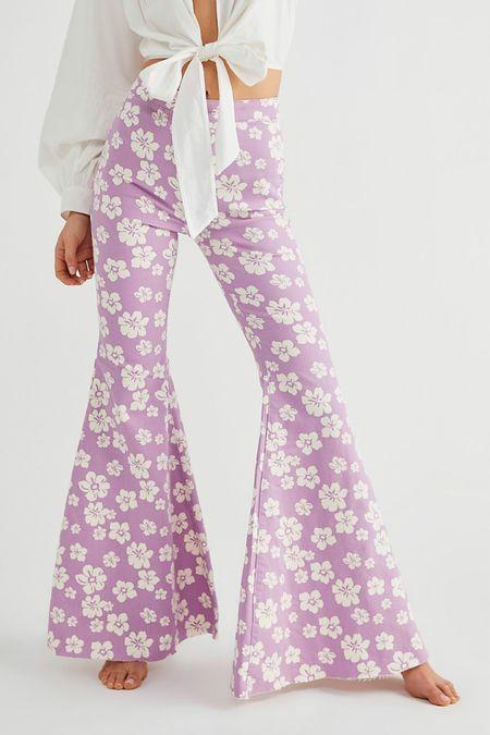 Floral pants. Free people