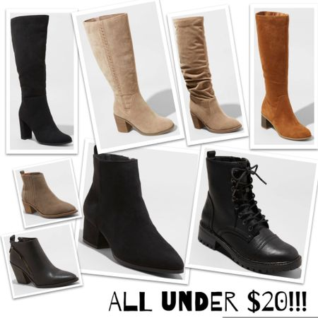 I'm sure you've heard about @target slashing prices on sweaters and boots by 50%!!! These are a few of the gems under $20!! Boots, knee highs, booties, combat boots, you name it!!   http://liketk.it/34qpD #liketkit @liketoknow.it   #LTKsalealert Screenshot this pic to get shoppable product details with the LIKEtoKNOW.it shopping app