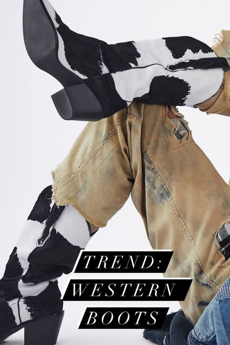 """SO into Western Style boots for Fall. Pair with a slip dress, or an oversized graphic tee. Avoid denim shorts or anything that can look """"cowgirl"""" constume. The key to rocking this style of boot is juxtaposition.   #LTKspring #LTKstyletip #LTKshoecrush"""