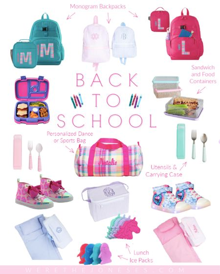 Back to school backpacks, lunch boxes, napmats and shoes for kids! 💗 🏫 🎒  . . #backtoachool, #lunchideas #lunchprep #backtoroutine #backpacks #napmat #lunchbox #kidshoes #bentobox   #LTKunder50 #LTKkids #LTKfamily