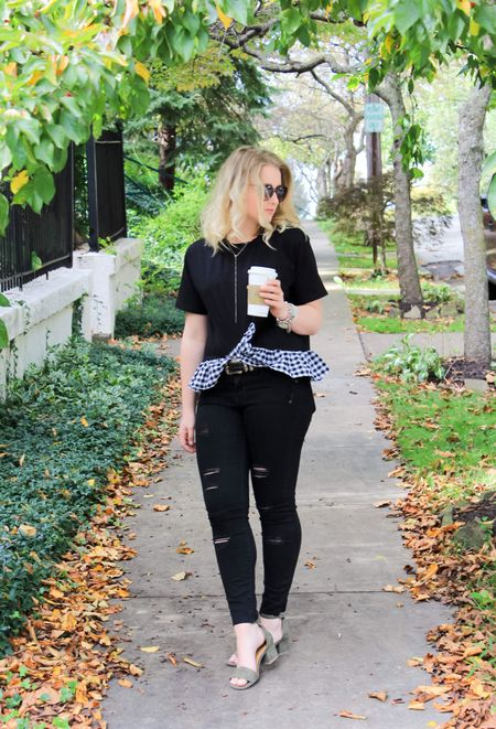 """Morning coffee in hand and I'm ready to take on the day! Today on #CAAB I'm talking about the power look for fall, all black. I'm discussing my it's my very favorite and why you need to try all black for fall! 🤗 And let's not forget I updated all my tabs in coffee and a Blonde! You can now shop all my fall favorites under the """"fall shop"""" tab! Wishing you all a wonderful Monday! ❤️ http://liketk.it/2sPAZ #liketkit   @liketoknow.it"""