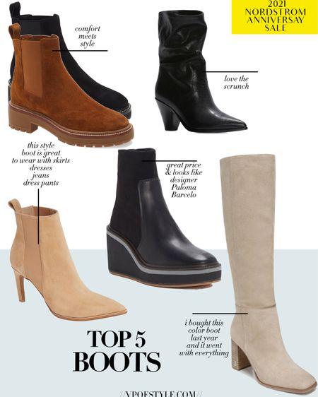 Top boot picks from the Nordstrom Anniversary sale. #nsale http://liketk.it/3jJJb #liketkit @liketoknow.it fall booties. Scrunch boot, flat boots, suede boots. Leather boots booties #LTKshoecrush #LTKunder100 #LTKsalealert