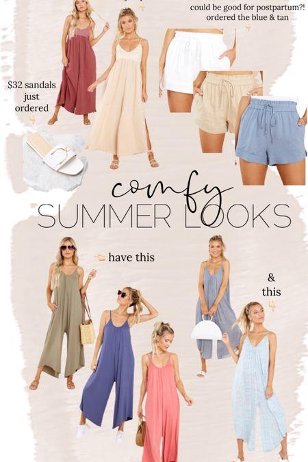 Comfy summer looks // jumpsuit // maternity // postpartum // sandals // http://liketk.it/3i74y @liketoknow.it #liketkit #LTKbump #LTKunder50 #LTKstyletip