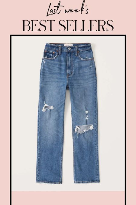 These jeans are included in my top sellers this week!  #abercrombie #a&f #momjeans #streightlegjeans #highwaistedjeans   #LTKstyletip #LTKunder100