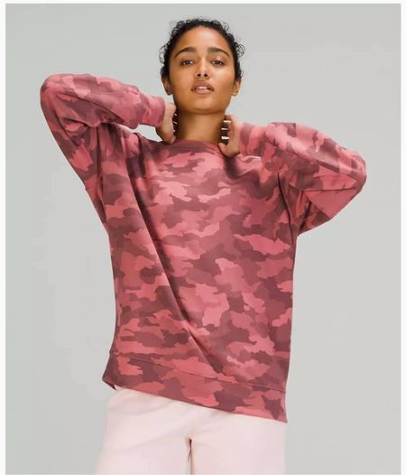 The perfect oversized camo sweatshirt! On SALE at Lululemon! Free shipping! Fully stocked! The perfect transitional top  Also on sale, these Align shorts are soft and buttery. The fabric is just the best! I wear a size 4 in these for reference!   Don't forget! FREE SHIPPING!   xo, Brooke  #LTKstyletip #LTKsalealert