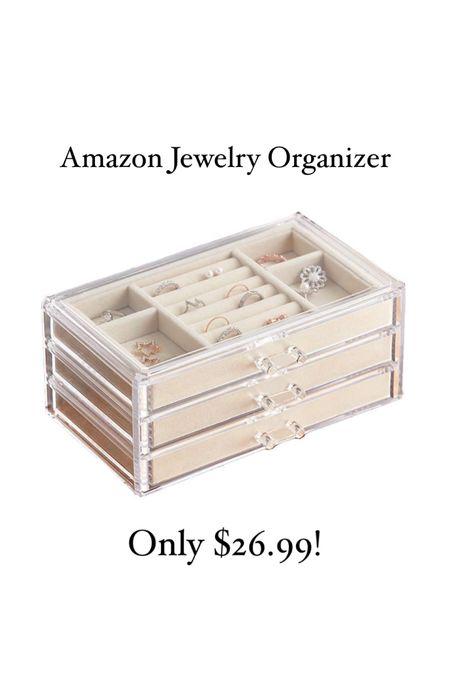 Amazon find! Acrylic 3-drawer jewelry organizer for only $26.99! Just ordered myself one! #liketkit #LTKNewYear #LTKunder50 #LTKhome @liketoknow.it http://liketk.it/35wKL