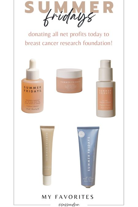 My favorites from summer Fridays - they are donating all profits today to breast cancer research foundation + get a travel size cloud dew moisturizer when you spend $50!   #LTKbeauty #LTKGiftGuide #LTKunder100