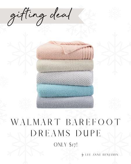 $17 barefoot dreams dupe blanket at Walmart!   #LTKHoliday #LTKGiftGuide #LTKSeasonal