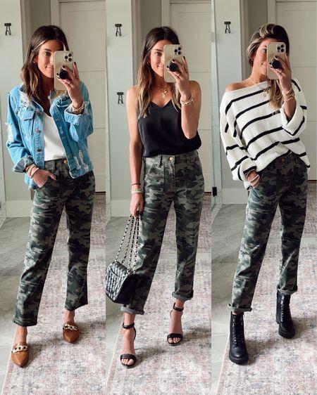 Target camo pants.  Target cami Target combat boots  Code JEN15 on these mules.  Teacher outift ideas.      #LTKworkwear #LTKstyletip #LTKunder50