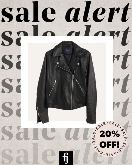 My favorite black leather jacket is 20% off for insiders right now! The perfect jacket for fall! #leatherjacket #falloutfit  #LTKsalealert #LTKstyletip