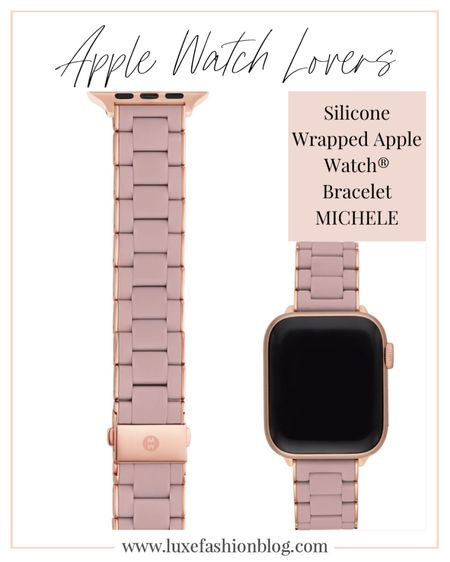 Turn your Apple Watch into a sporty-luxe piece of jewelry with this bracelet made from polished stainless steel wrapped in soft silicone. MICHELE watches brand is available at NORDSTROM.  Apple Watch®️ Stainless Steel & Silicone Bracelet Strap.  ......  Follow me on the LIKEtoKNOW.it shopping app to get the product details for this product and others. http://liketk.it/3a0q7   @liketoknow.it.europe   @liketoknow.it  .....  #liketkit #LTKfit #LTKstyletip #LTKworkwear