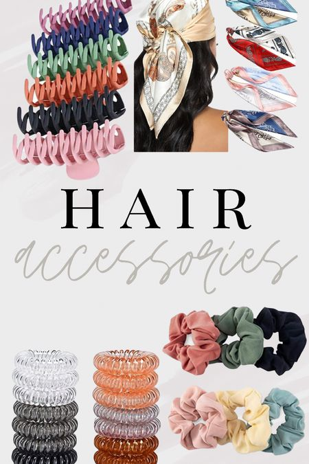 Amazon Fashion. Women's hair accessories. Claw clips, spiral hair ties, scrunchies, satin hair bandana   #LTKstyletip #LTKbeauty #LTKunder50